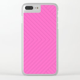 Linear Stripes - Pink Clear iPhone Case