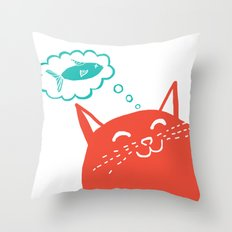 Me Want Fish Throw Pillow