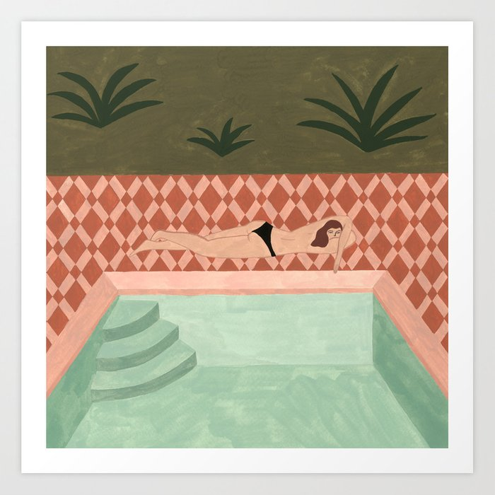 Lido Swimwear - Poolside Kunstdrucke