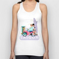 backpack Tank Tops featuring SAIGON by Adam Moroncsik