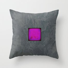 Slate Gray Lavender Fuschia Modern Art Throw Pillow