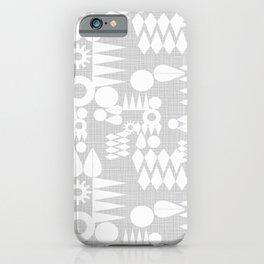 Geometric Play Grey iPhone Case