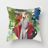 legolas Throw Pillows featuring Thranduil & Legolas by kagalin