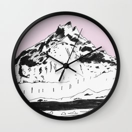 a mountain Wall Clock