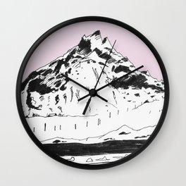 a mountain Wall Clock