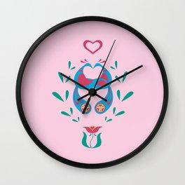 Fraktur'd Fairy Tale Wall Clock