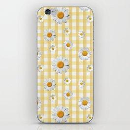 Spring Bloom | Yellow Plaid iPhone Skin