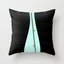 Vase at the Window Throw Pillow