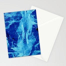 Microcosmos Azul Stationery Cards