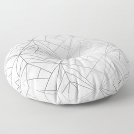 Geometric Silver Pattern on Marble Texture Floor Pillow