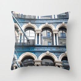 NY Blue Throw Pillow