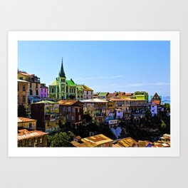 Cerro Conception, Valparaiso, Chile Art Print