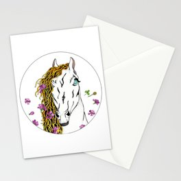 Horse  In Wild Flowers Stationery Cards