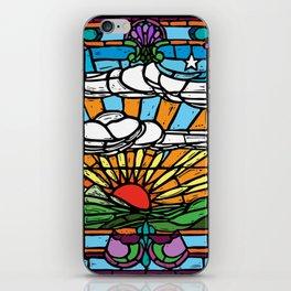 Sunrise Stained Glass Window iPhone Skin