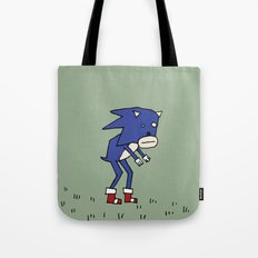 Sad Sonic The Hedgehog In A Field Tote Bag