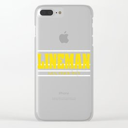 "A Simple Football Tee For Footballers Saying ""Lineman A.k.a. Brick Man"" T-shirt Design Goal Strike Clear iPhone Case"