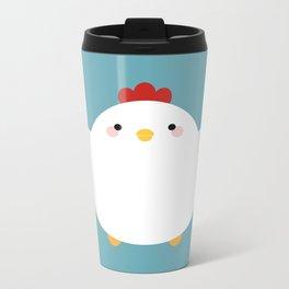 White Chicken Metal Travel Mug