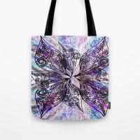 batik Tote Bags featuring Batik by Crimsonblossom