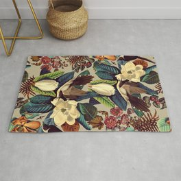 FLORAL AND BIRDS XXI-II Rug