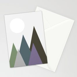 Night View of the Hills Stationery Cards