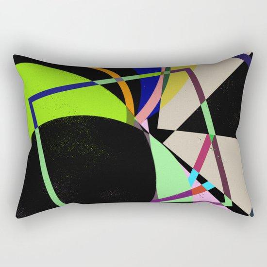 Retro Pastel X - Abstract, geometric, scandinavian pattern artwork Rectangular Pillow