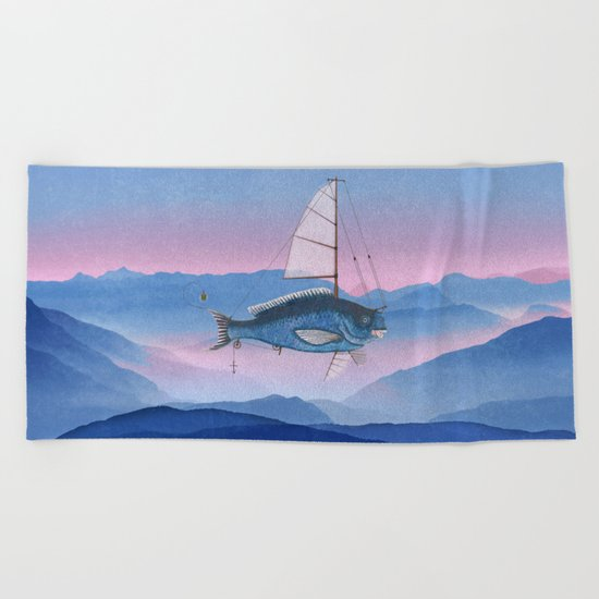 I want to fly Beach Towel