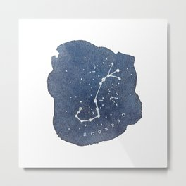 scorpio constellation zodiac Metal Print