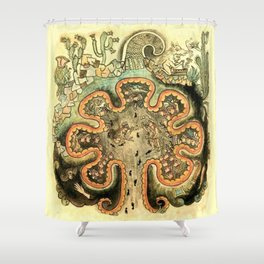 Aztec Collection: The Seven Caves of Chicomoztoc Shower Curtain