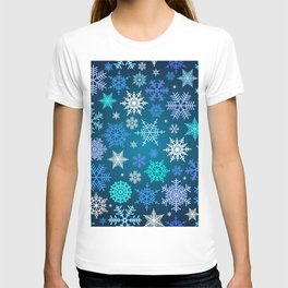 Snowflake pattern T-shirt