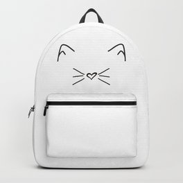 Cute Cat #society6 #decor #buyart #artprint Backpack