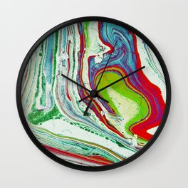 Marbled paper II Wall Clock
