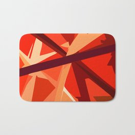 Red Fuel and Refuel Bath Mat