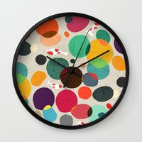 lotus Wall Clocks featuring Lotus in koi pond by Picomodi