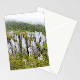 Limestone pinnacles formation at Gunung Mulu national park Borneo Malaysia Stationery Cards