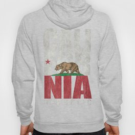 Cali Bear Flag with deep distressed textures Hoody