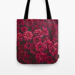 Painting The Flowers Red Tote Bag