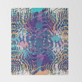 Uptown Multi Colored Abstract Throw Blanket