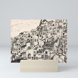 Oia, Santorini, Greece Mini Art Print