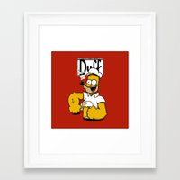 homer Framed Art Prints featuring Homer-Popeye by le.duc