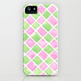 Pastel squares iPhone Case