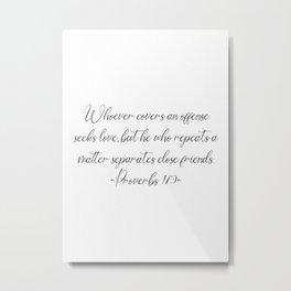 Proverbs Metal Print