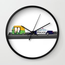 High Speed Chase Wall Clock