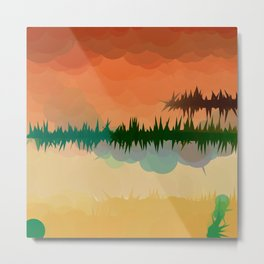 "Digital Abstract Landscape ""Minnesota Memories"" Metal Print"