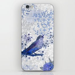 Chinoiserie blue iPhone Skin