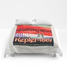 Kepler-186f - NASA Space Travel Poster Comforters