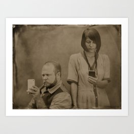 Wet plate of the modern age Art Print
