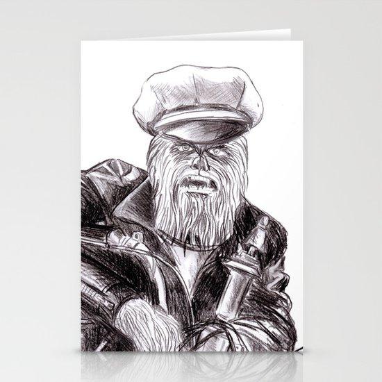 wookie wild one Stationery Cards