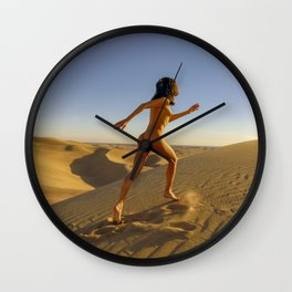 Sandy Dune Nude - The Run Wall Clock