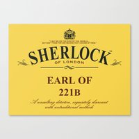 221b Canvas Prints featuring Earl of 221B by Barn Bocock