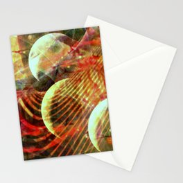 Four Moons in Red Stationery Cards
